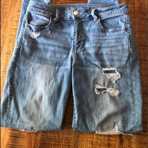 Women's distressed American Eagle jeans